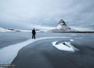 Kirkjufell on ice.