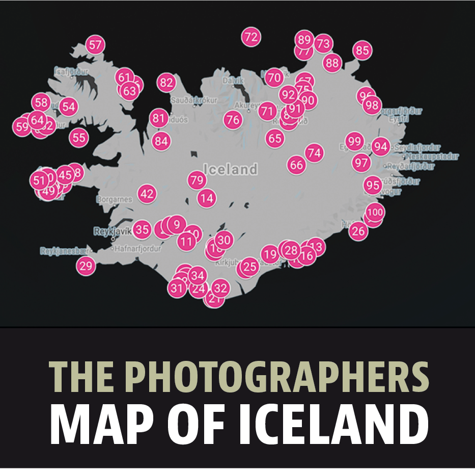 The photographers map of Iceland