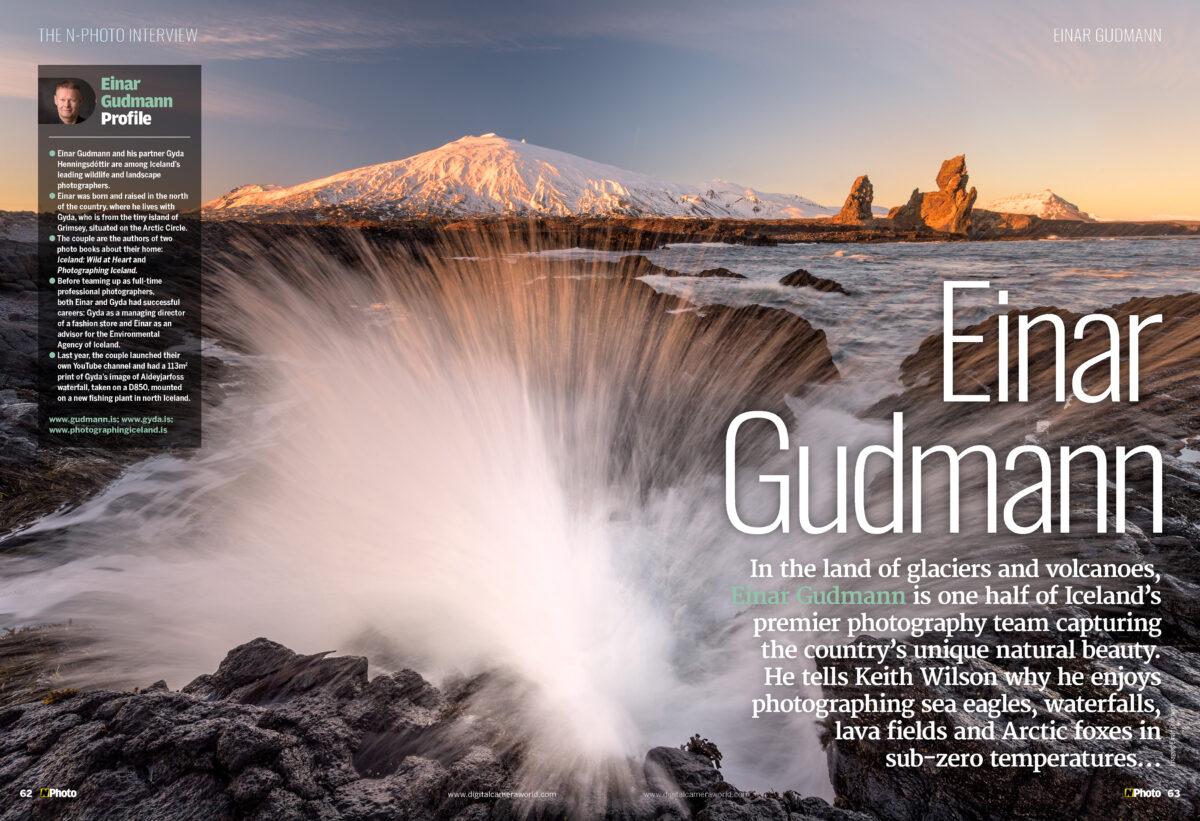 Einar Gudmann interview in N-Photo